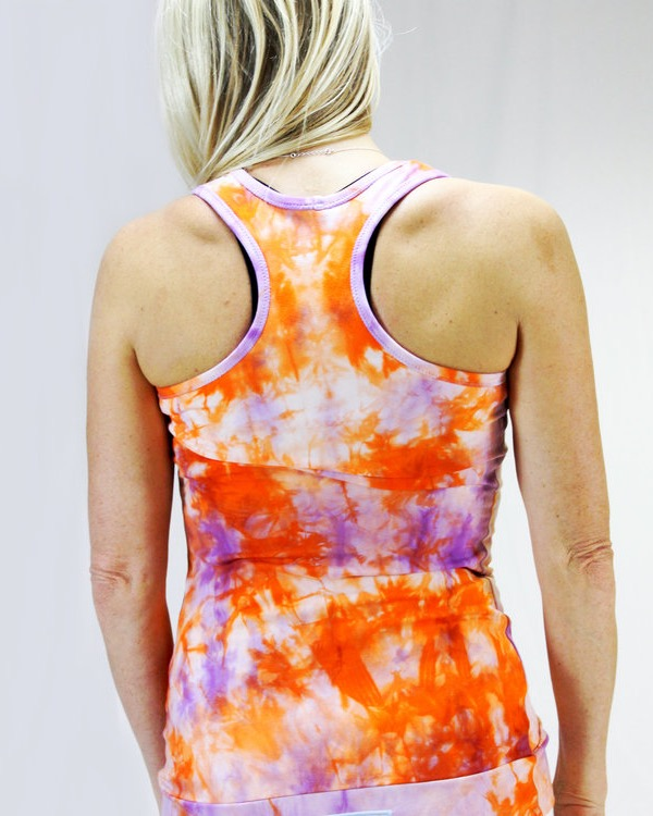 REA: Yogatopp Lycklig (orange batik strl S)