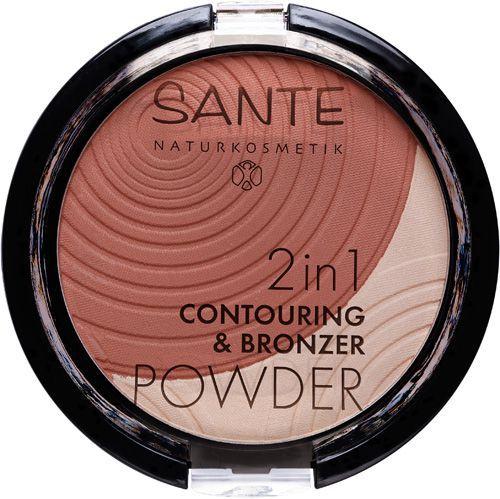 Sante Conturing & Bronzing puder 2in1 - 01 light-medium