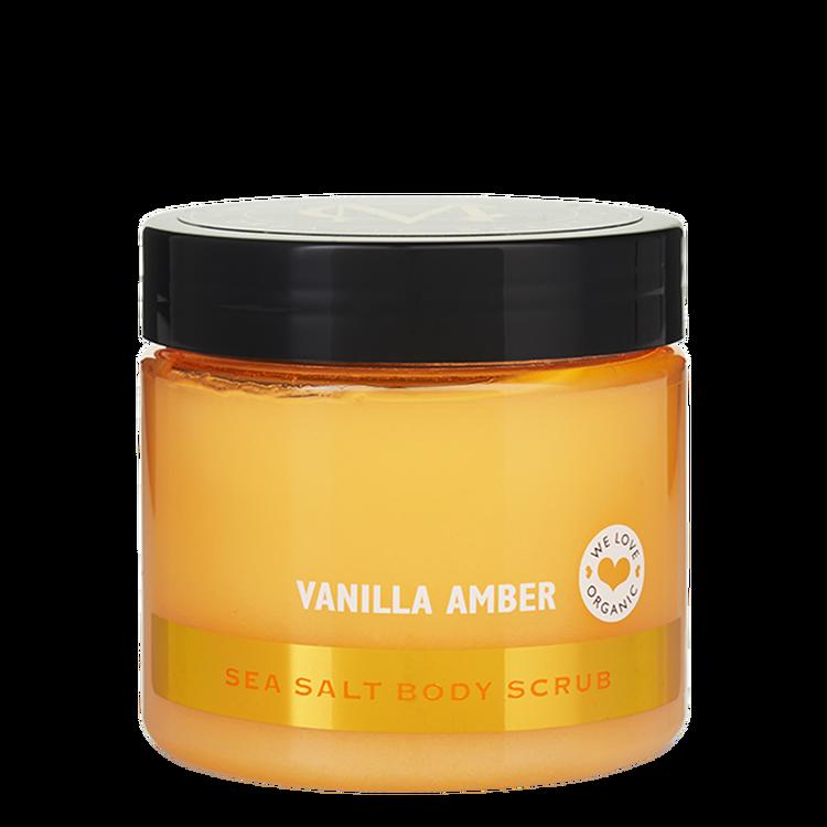 Moyana Corigan Sea Salt Body Scrub, Vanilla Amber
