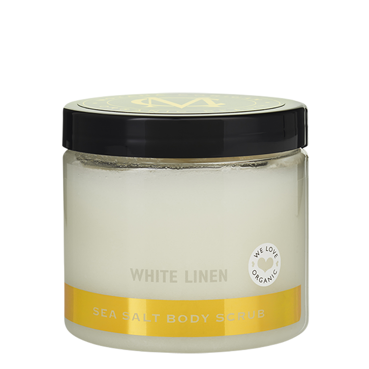 Moyana Corigan Sea Salt Body Scrub, White Linen