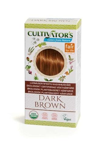 Cultivator´s ekologiskt certifierad växthårfärg – Dark Brown
