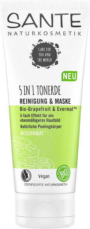 Sante- 5in1 Clay Cleanser & Mask eko grapefruit & evermat