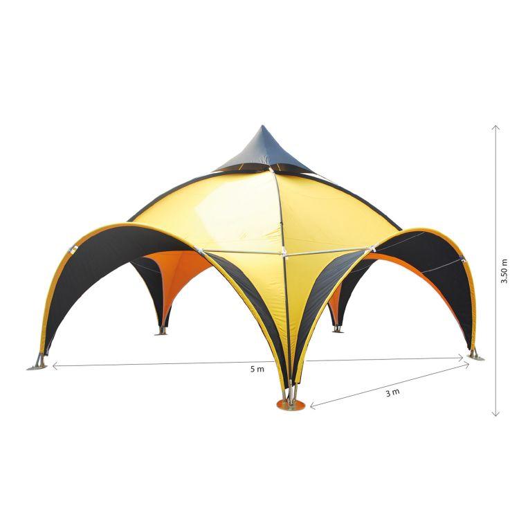 Dome tält - enfärgat tak