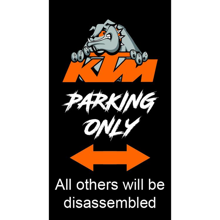KTM Parkeringsskylt