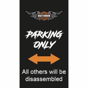 Harley Davidson - Wings - Parkeringsskylt