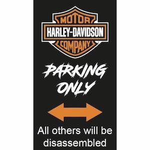 Harley Davidson - Parkeringsskylt