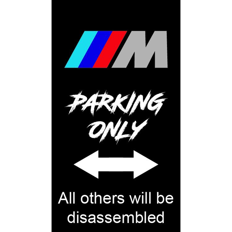 BMW M Parkeringsskylt