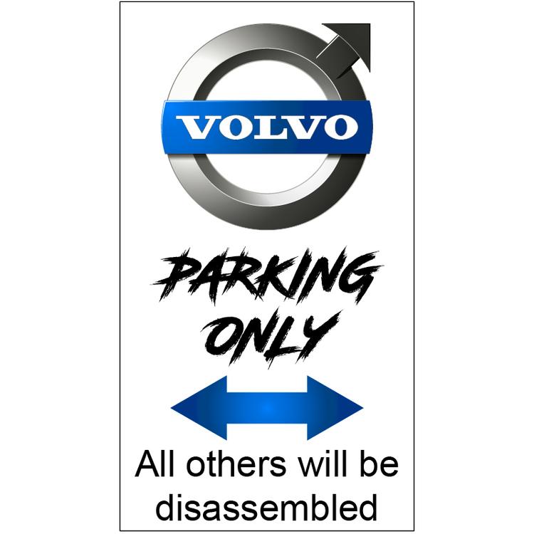 Volvo Parkeringsskylt
