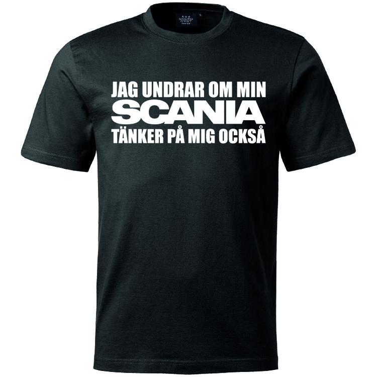 T-Shirt - Undrar om min Scania tänker på mig