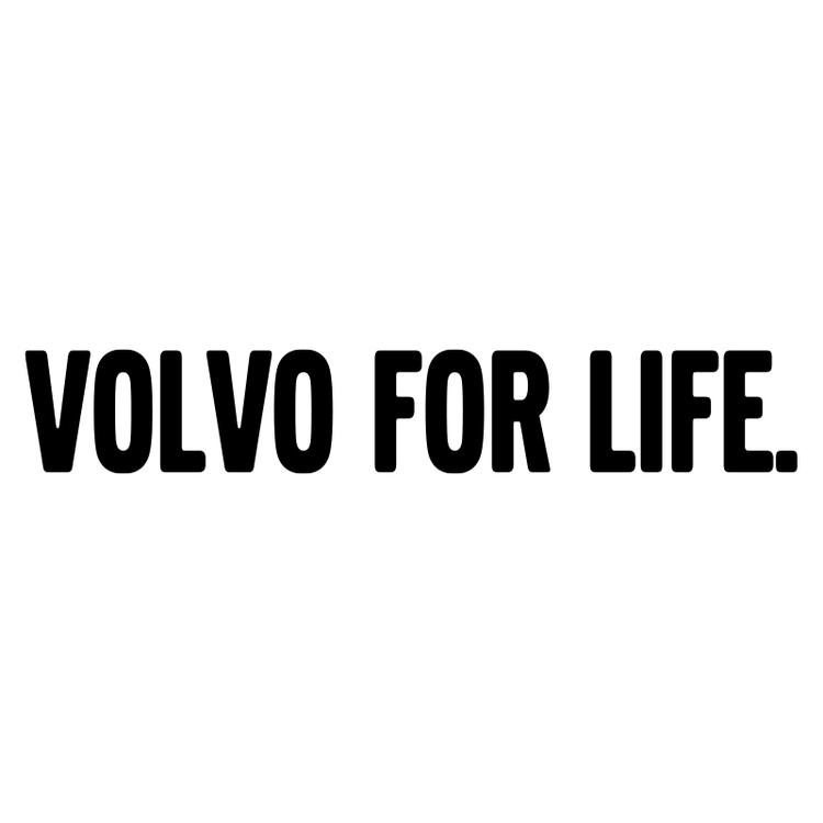 Dekal - Volvo For Life.