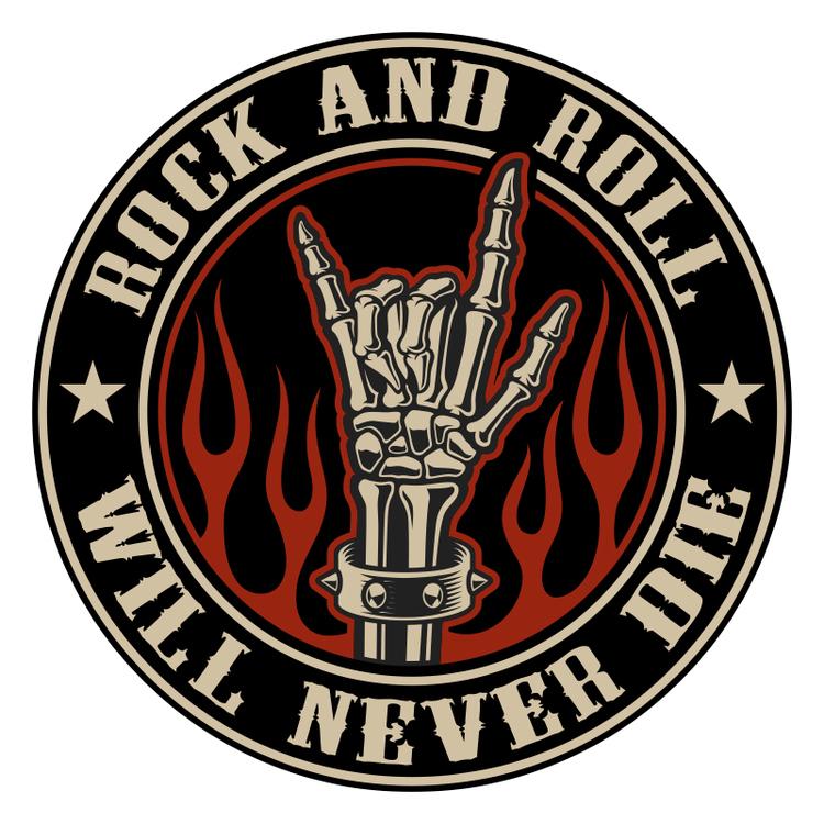 Hyttdekor - Rock N Roll will never die - Printad