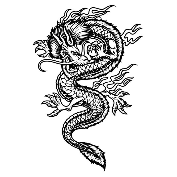 Hyttdekor - Japansk drake