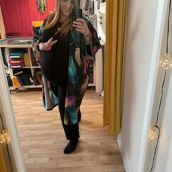 Abstract Jersey kimono