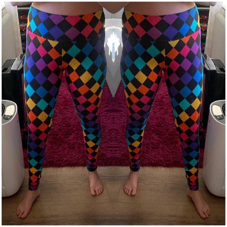 Boho Eyes Petrol/Purple leggings