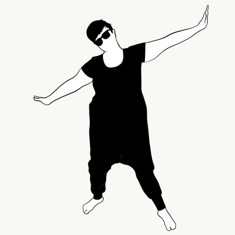 Black harem jumpsuit kort ärm