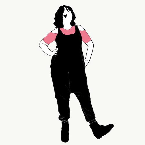 Black harem jumpsuit utan ärm