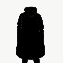 Hood dress long black