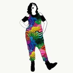Groovy Rainbow haremjumpsuit utan ärm