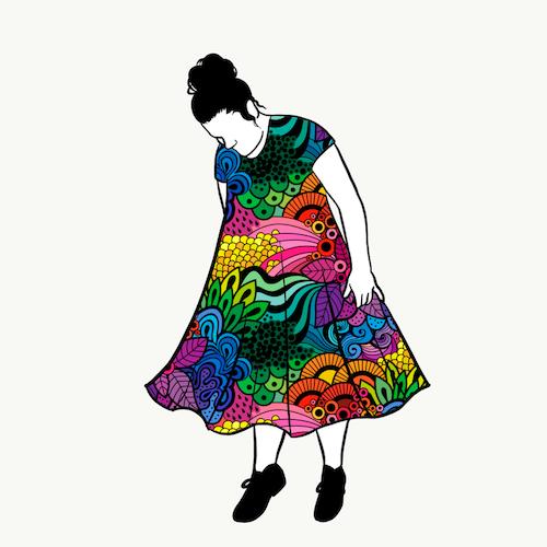 Groovy Rainbow groove dress