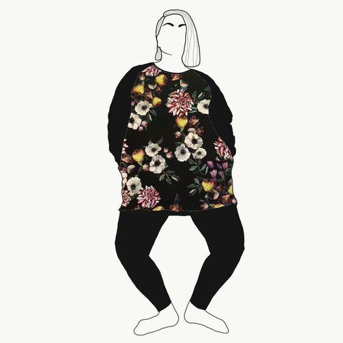Sweatshirt Baroque flowers