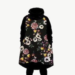 Hood dress baroque flowers