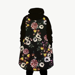 Hood dress long Baroque flowers