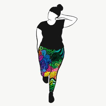 Groovy rainbow leggings