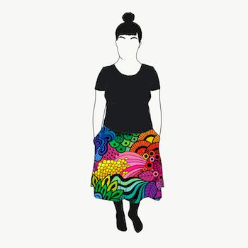 Groovy Rainbow kjol