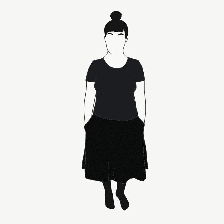 Svart kjol