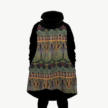 Hood dress Makrame Oliv