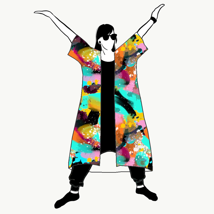 Paint Kimono/Kaftan