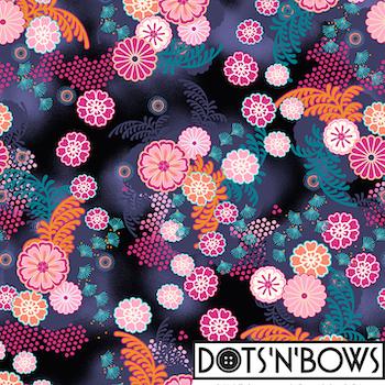 Flowers A-linje tunika 3/4 ärm