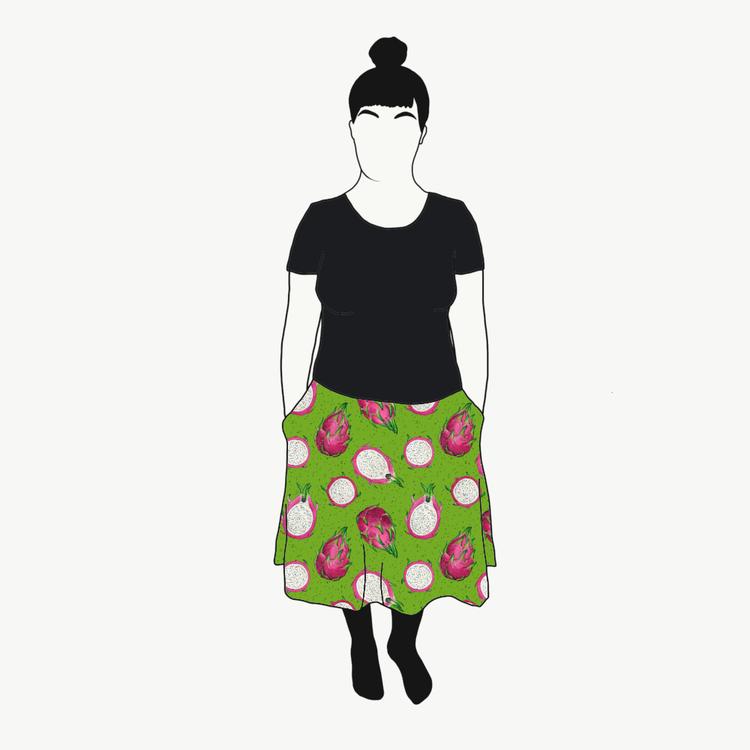 Dragon Fruit Green kjol