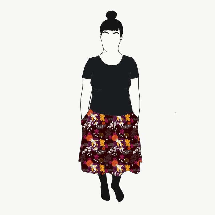 Koi Plum kjol