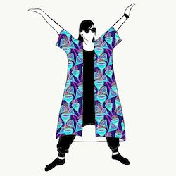 Magic Mushroom Kimono/Kaftan