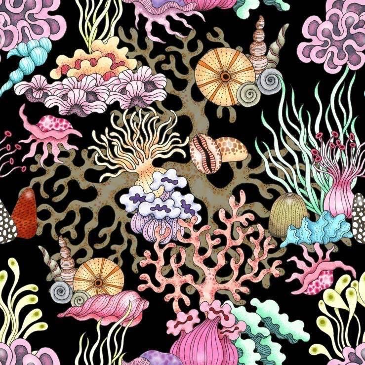 Havet kaftan med knytband