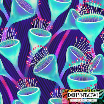 Magic Mushroom A-linje tunika 3/4 ärm