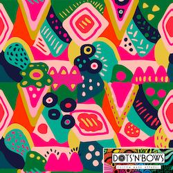 Abstract groove dress 3/4 ärm