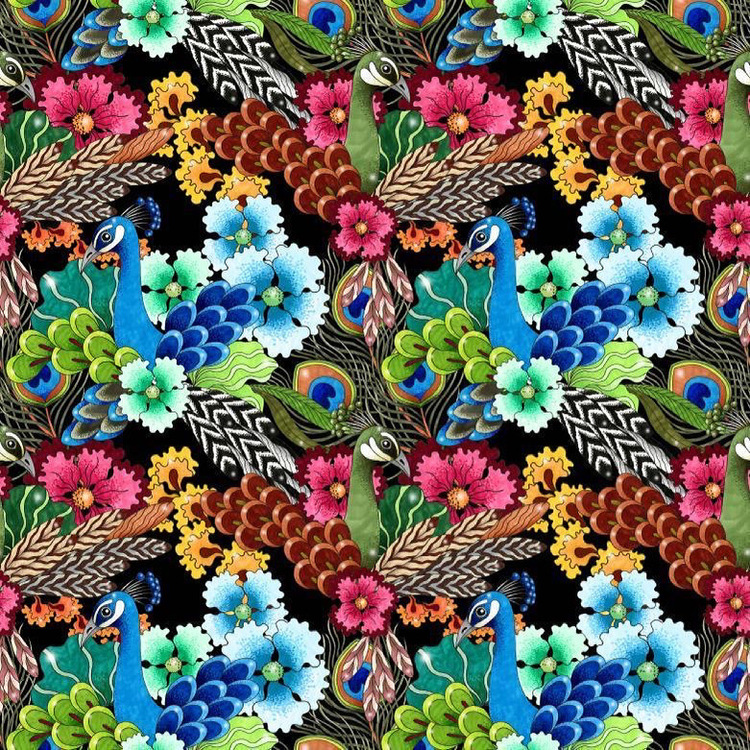 Påfågel Kimono/Kaftan