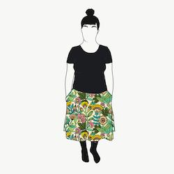 Outlined Floral kjol