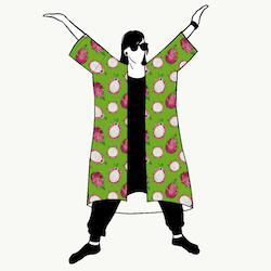 Dragon Fruit Jersey kimono