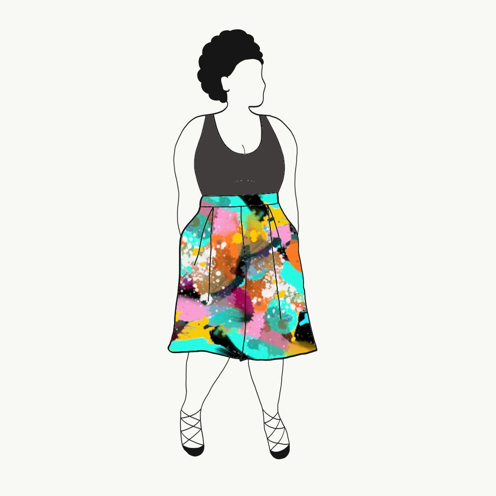 Culottes Långa shorts Paint