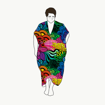 Kaftan dress Groovy Rainbow