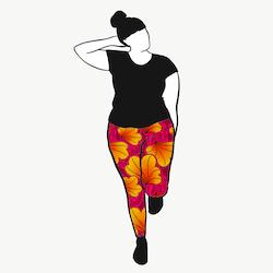 Funky Leaf Pink/Orange leggings