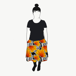 Funky Leaf Orange kjol