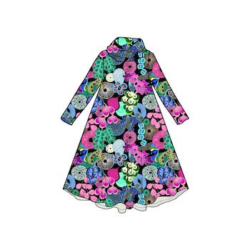 Softa Pastell Groove dress med krage. Lång ärm