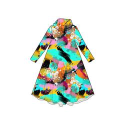 Paint Groove dress med krage. Lång ärm