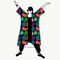 Leaf Jersey kimono