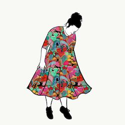 Majken groove dress 3/4 ärm