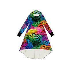 Hood dress Groovy Rainbow